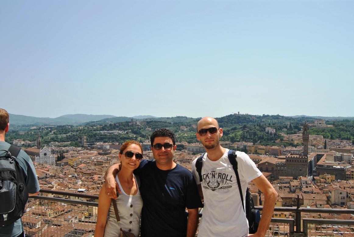 Büyük katedralin tepesinde türklerle birlikte...